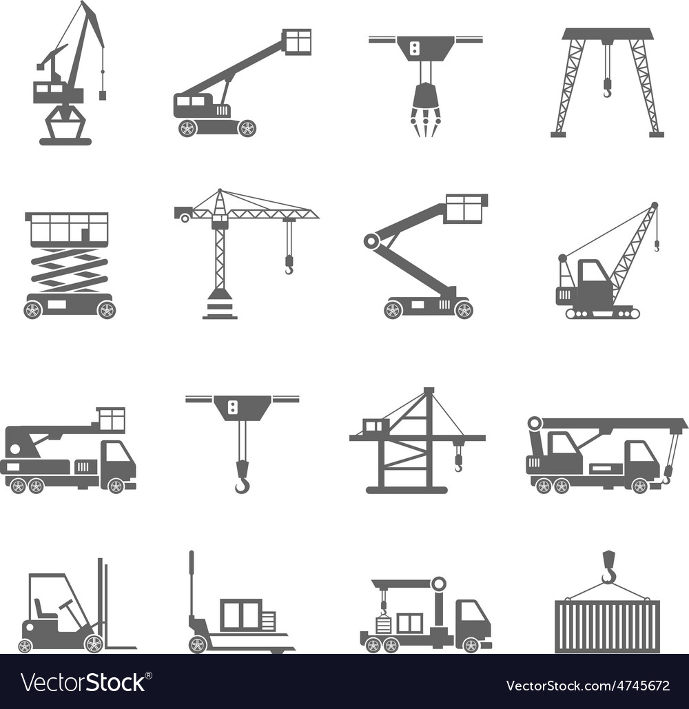 Lifting equipment icons vector | Price: 1 Credit (USD $1)