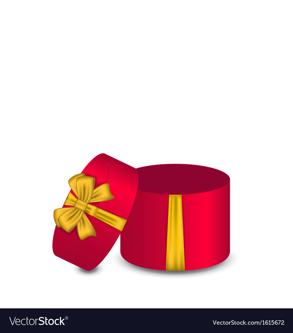 Open gift box with bow vector | Price: 1 Credit (USD $1)