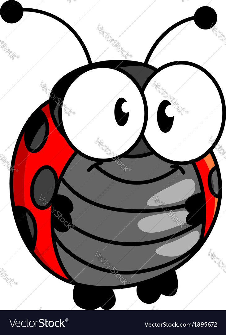 Smiling happy little ladybug or ladybird vector | Price: 1 Credit (USD $1)
