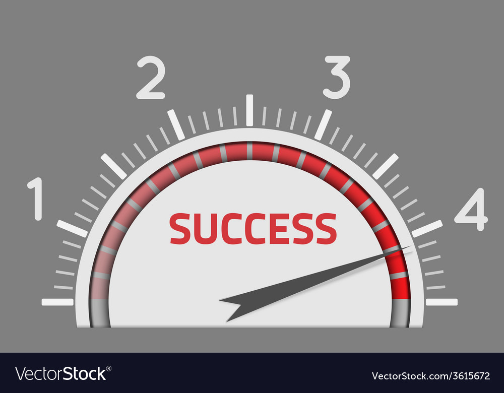 Success speedometer vector | Price: 1 Credit (USD $1)