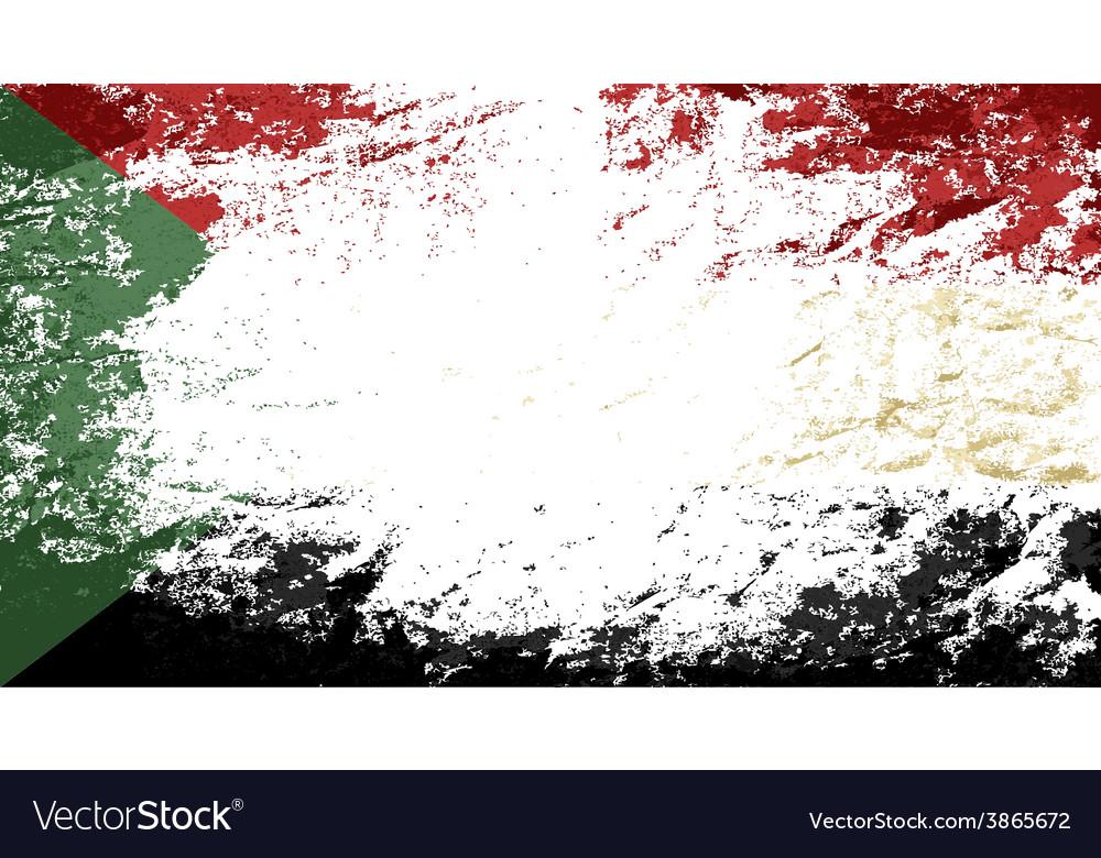Sudanese flag grunge background vector   Price: 1 Credit (USD $1)