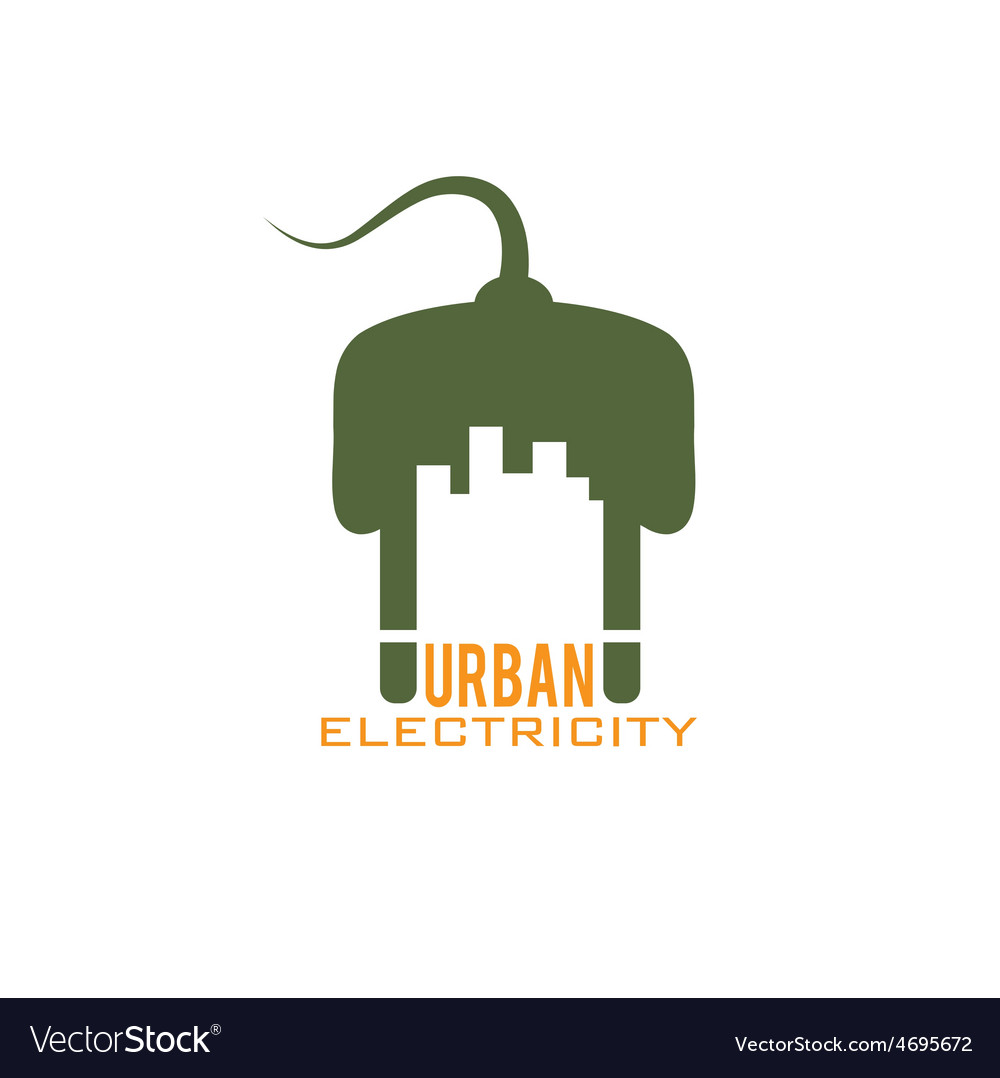 Urban electricity design template vector | Price: 1 Credit (USD $1)