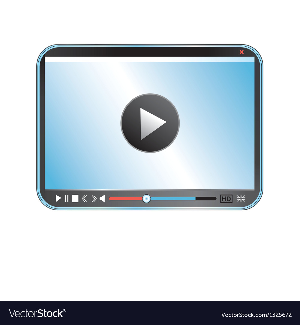 Video player vector | Price: 1 Credit (USD $1)