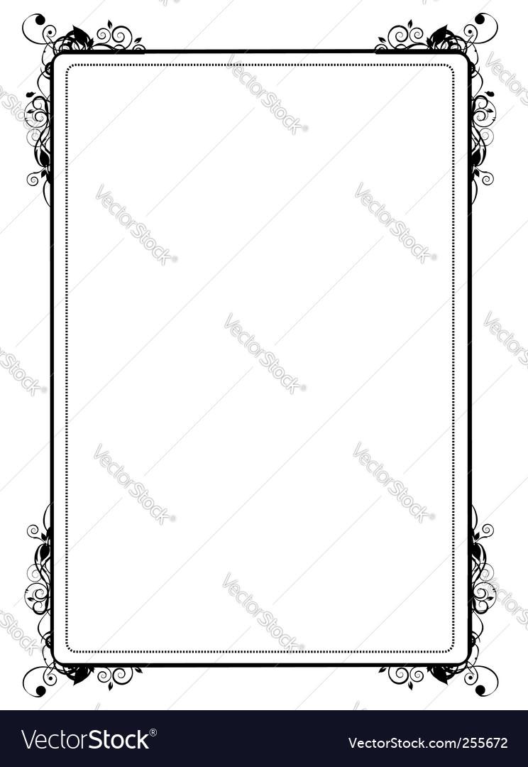 Vintage vignette silhouette vector | Price: 1 Credit (USD $1)