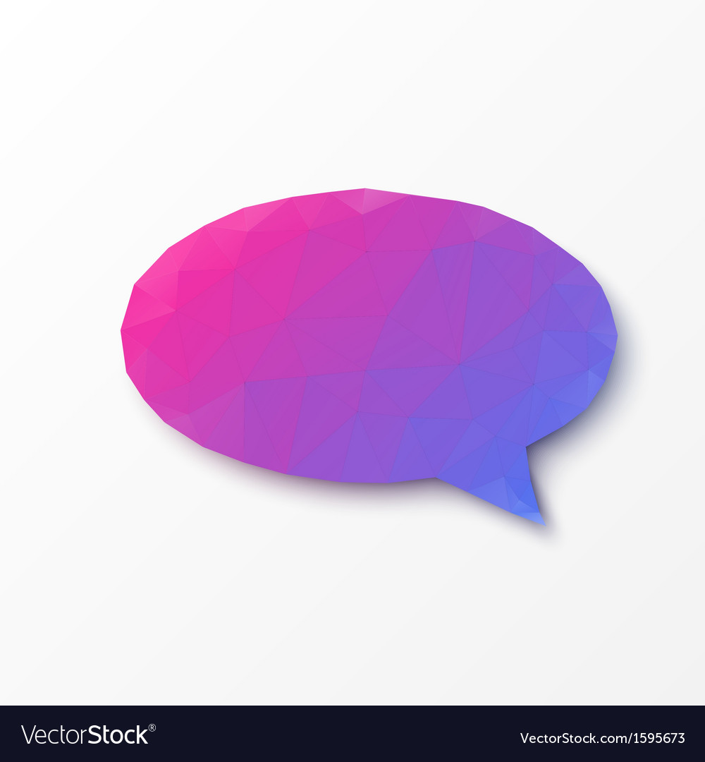 Abstract design - geometric speech bubble vector | Price: 1 Credit (USD $1)