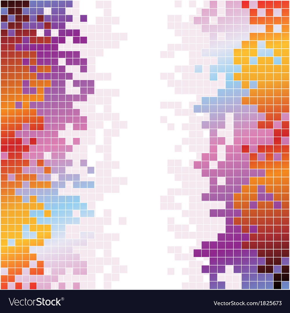 Abstract digital background with colorful pixels vector | Price: 1 Credit (USD $1)