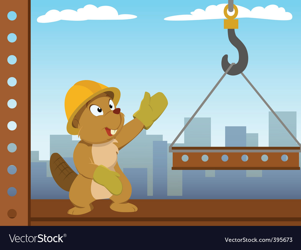 Beaver mounter build metal construction vector | Price: 1 Credit (USD $1)