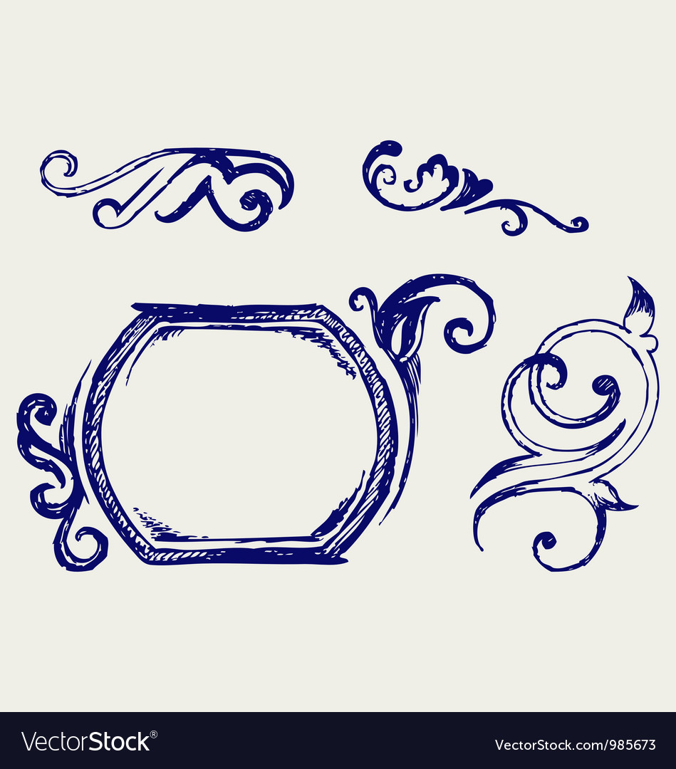 Calligraphic design element and page decoration vector | Price: 1 Credit (USD $1)