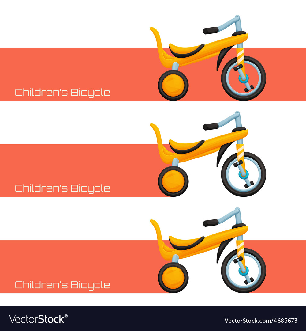Childrens bicycle two vector | Price: 1 Credit (USD $1)