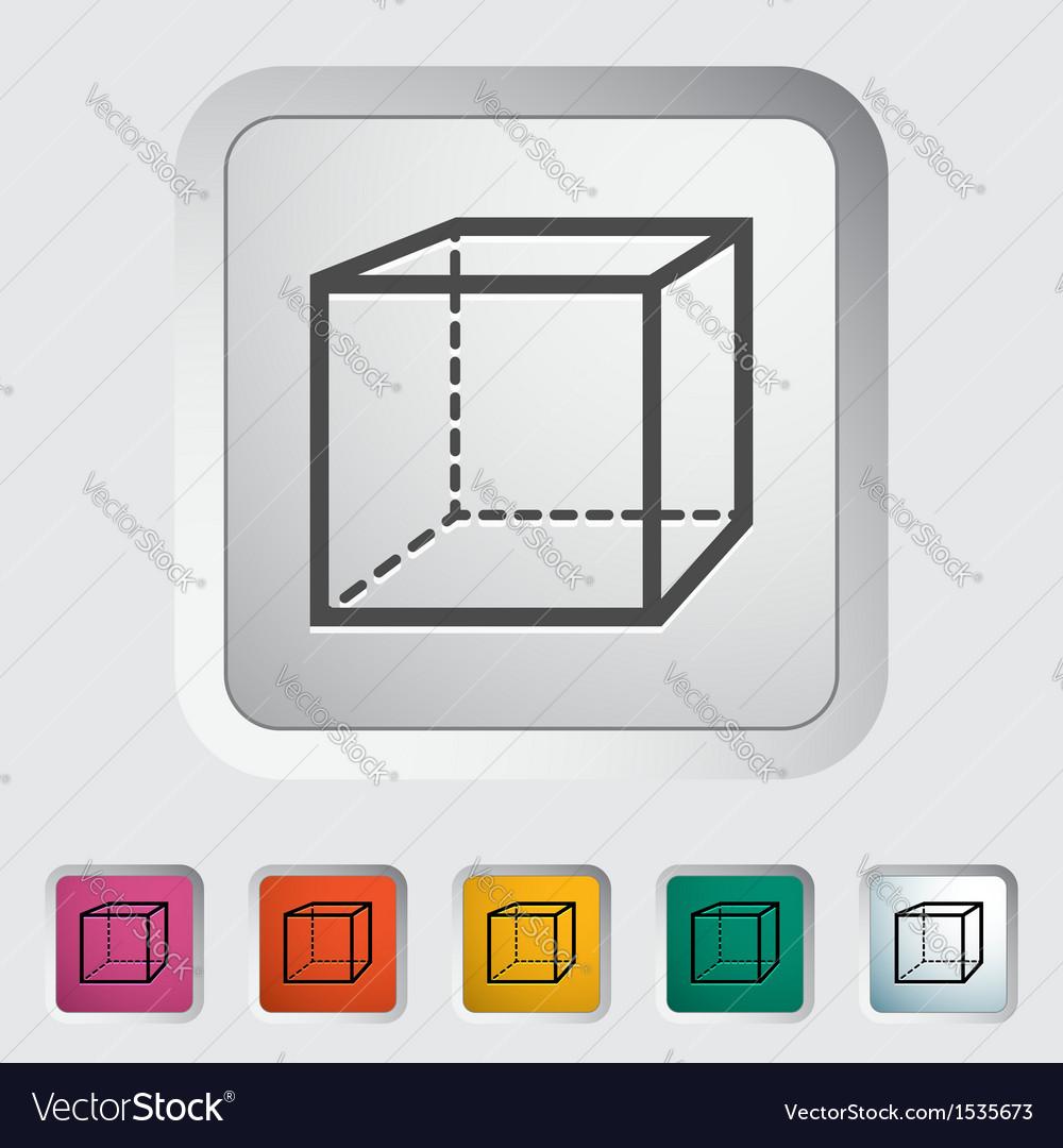 Geometric cube vector | Price: 1 Credit (USD $1)