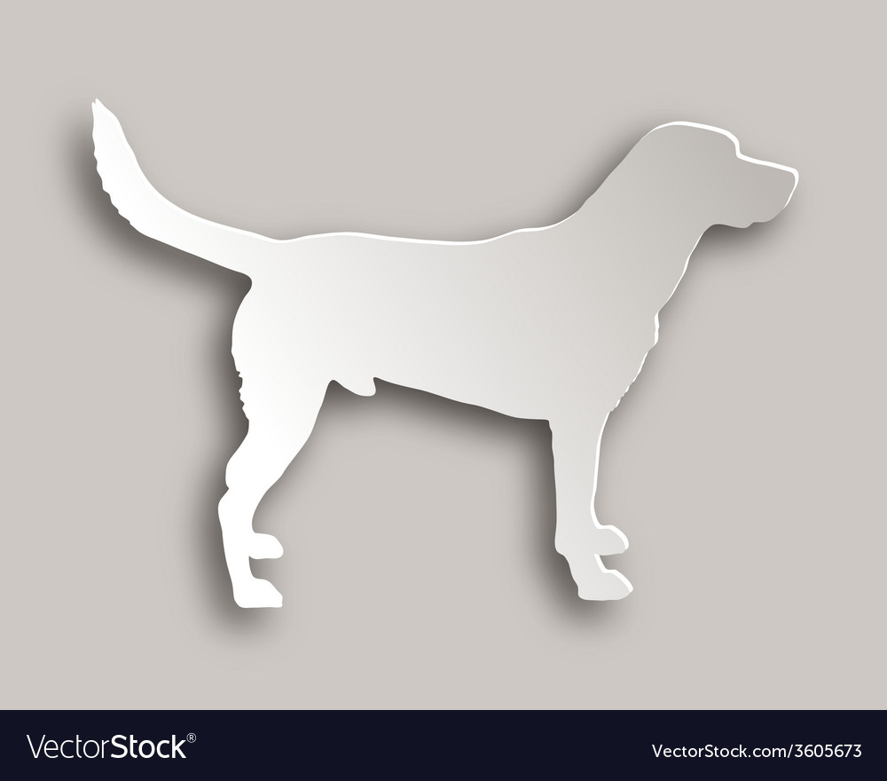 Labrador paper style vector | Price: 1 Credit (USD $1)