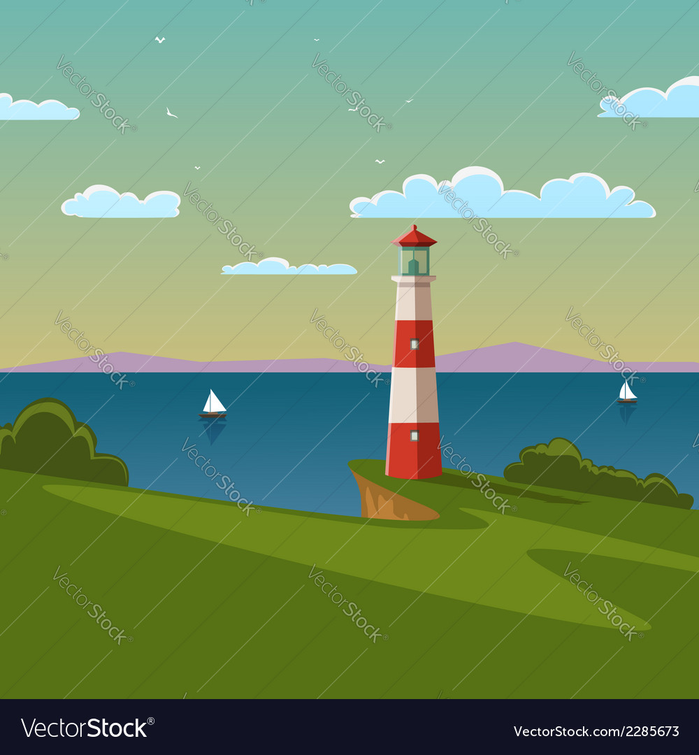 Lighthouse vector | Price: 3 Credit (USD $3)