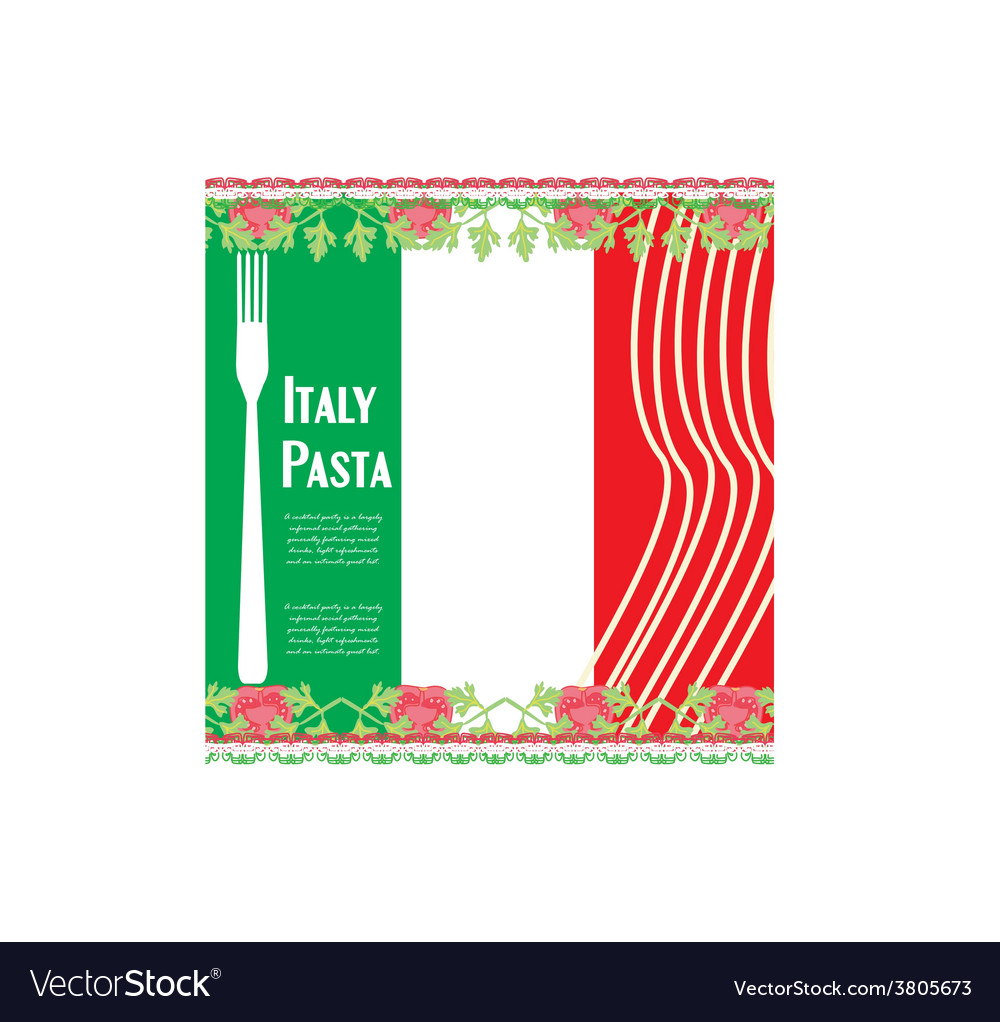 Pasta pattern vector | Price: 1 Credit (USD $1)