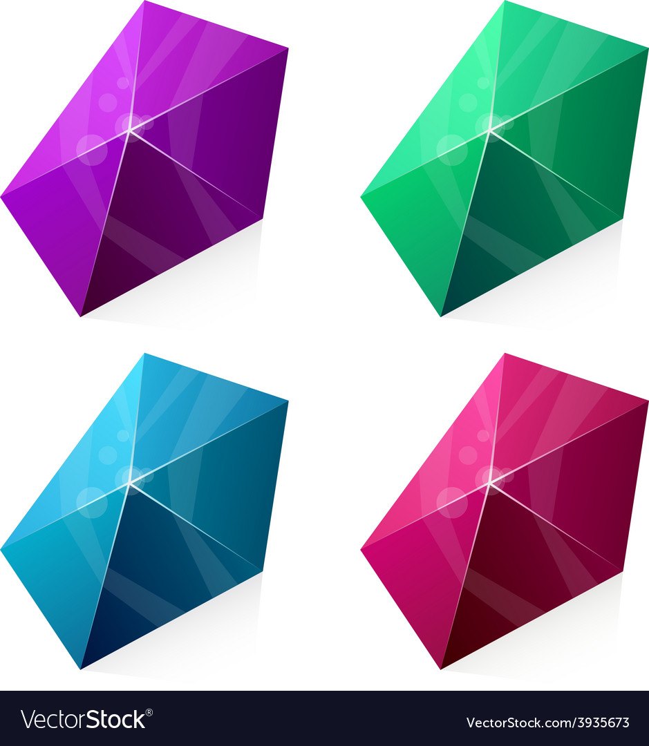 Pentagonal vibrant pyramid vector | Price: 1 Credit (USD $1)