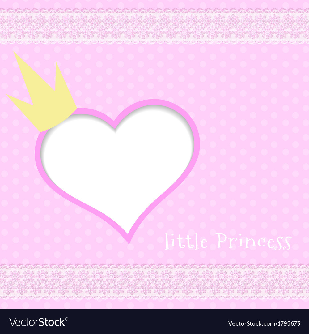 Pink background little princess vector | Price: 1 Credit (USD $1)