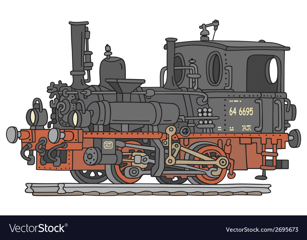 Steam locomotive vector | Price: 1 Credit (USD $1)