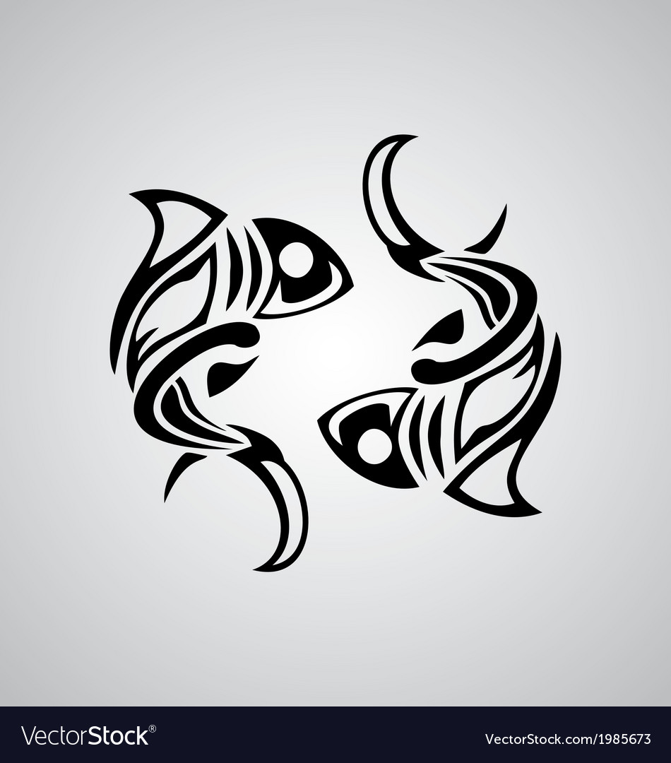 Tribal pisces vector | Price: 1 Credit (USD $1)