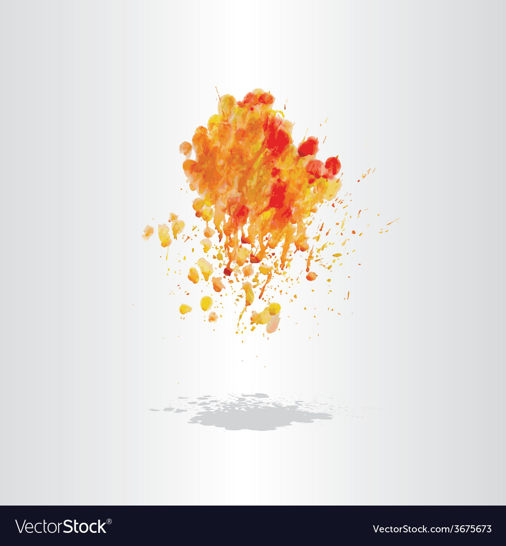 Watercolor splash blot with drops and splatter vector | Price: 1 Credit (USD $1)