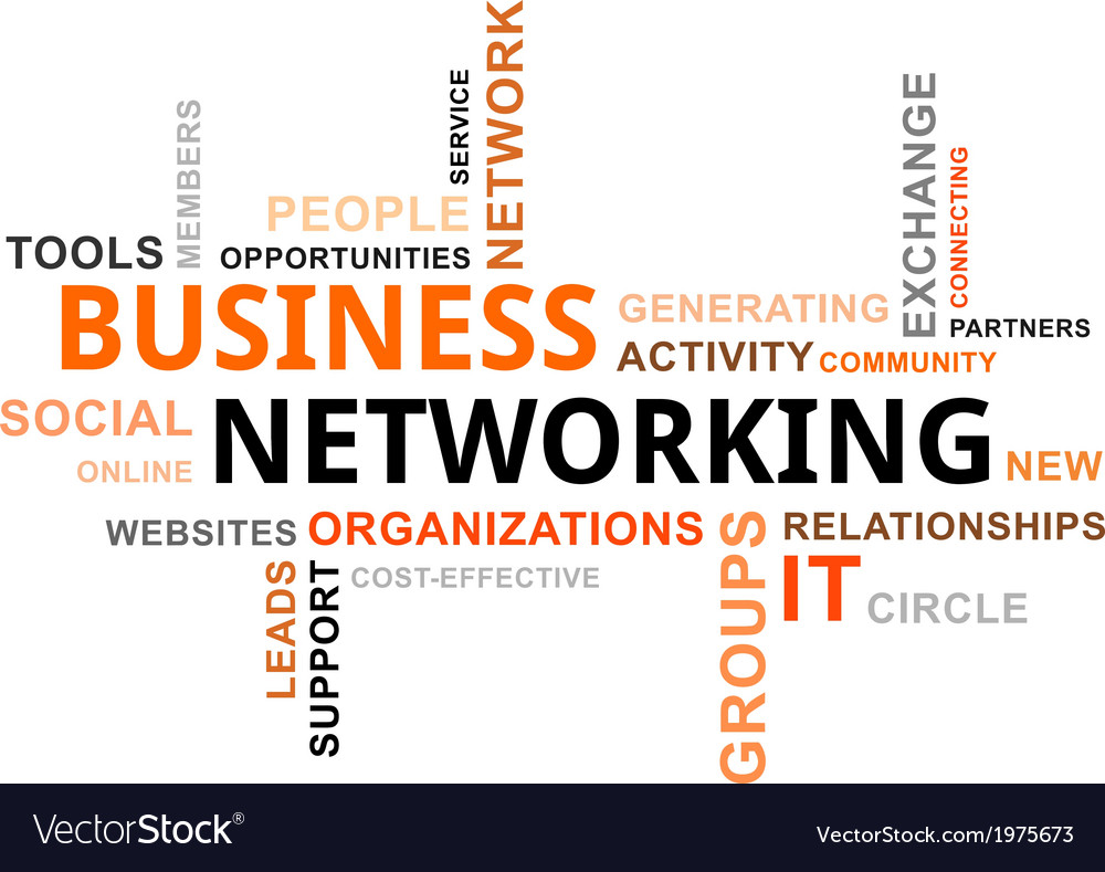 Word cloud business networking vector | Price: 1 Credit (USD $1)