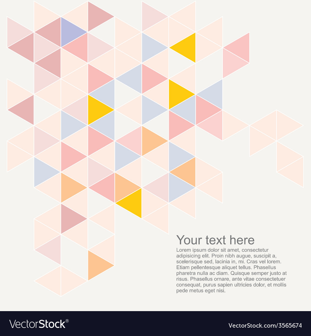 Abstract flat triangle surface background vector | Price: 1 Credit (USD $1)