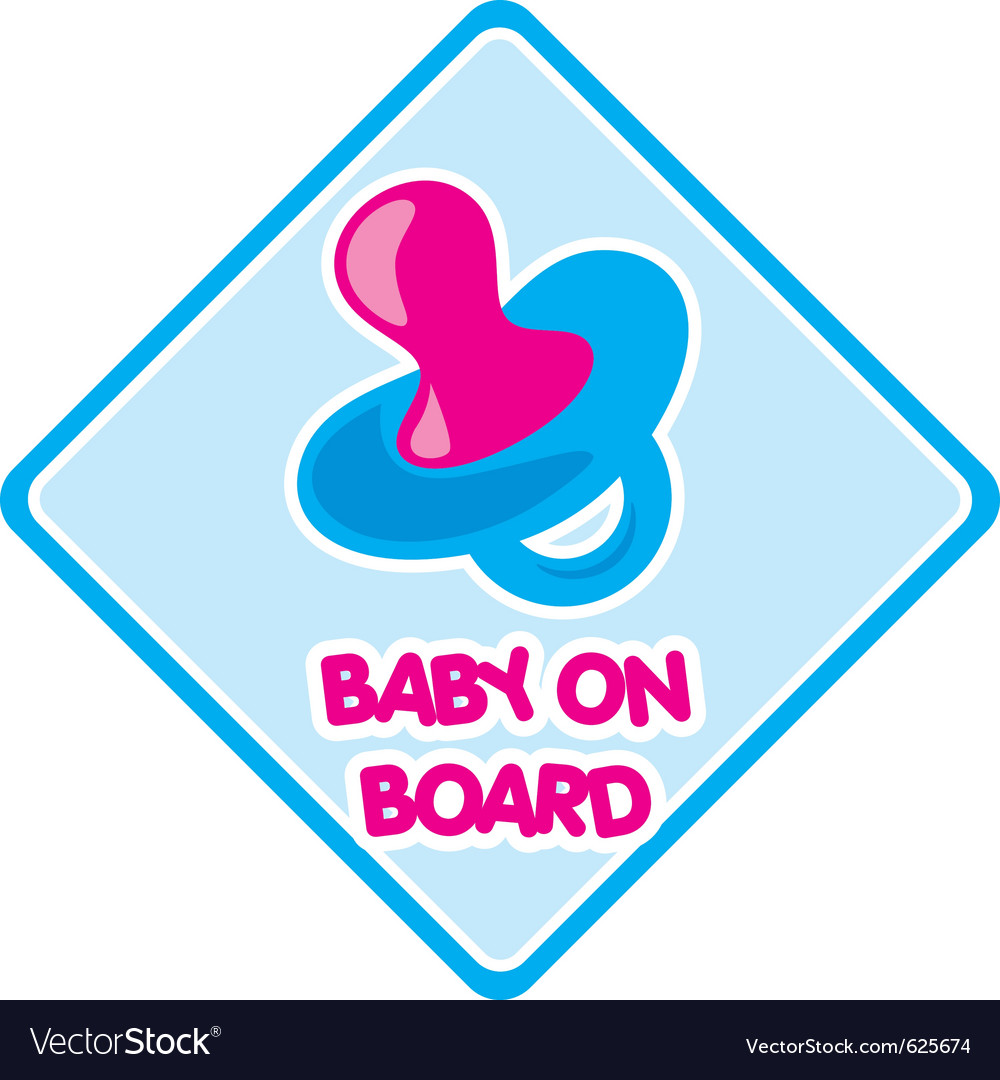 Baby on board 1 vector | Price: 1 Credit (USD $1)