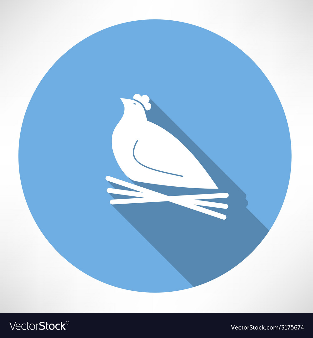 Chicken in the nest icon vector | Price: 1 Credit (USD $1)