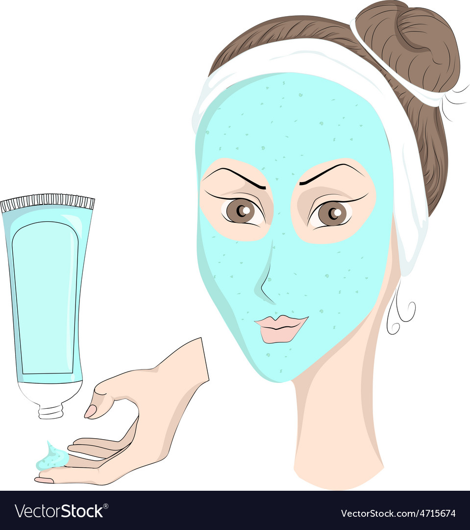 Girl with make up face mask vector | Price: 1 Credit (USD $1)