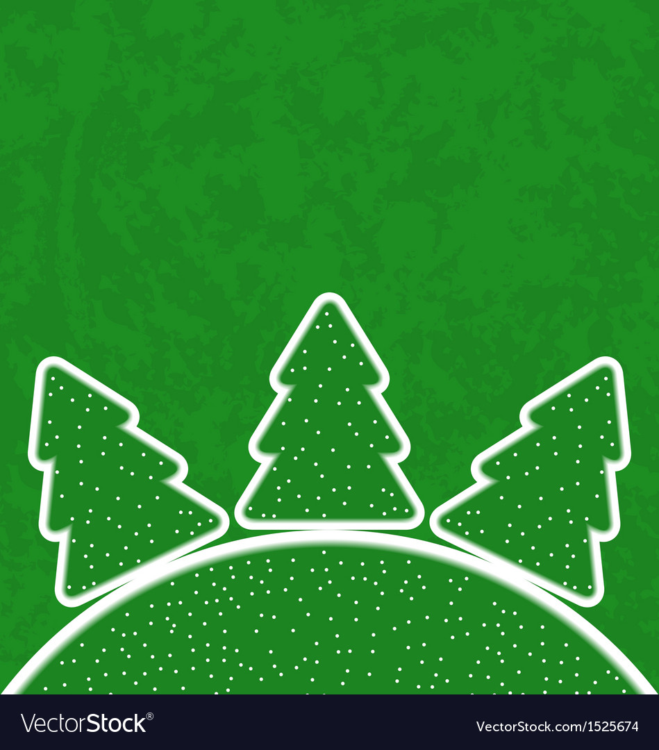 Green paper cut-out set christmas tree vector | Price: 1 Credit (USD $1)