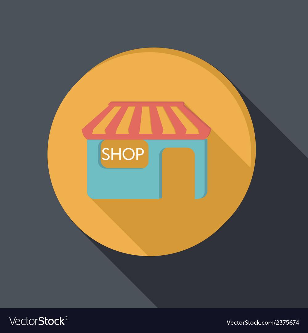 Paper flat icon shop building vector   Price: 1 Credit (USD $1)