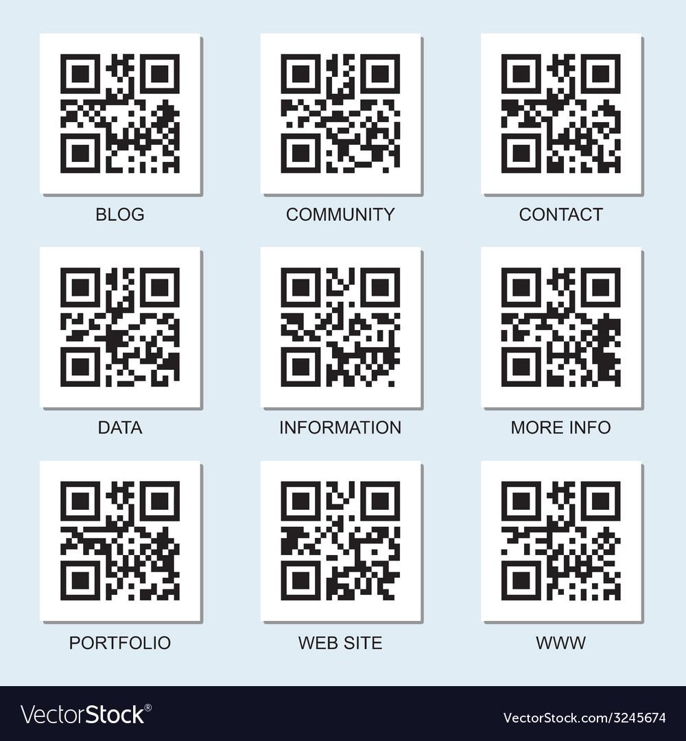 Qr code set vector | Price: 1 Credit (USD $1)