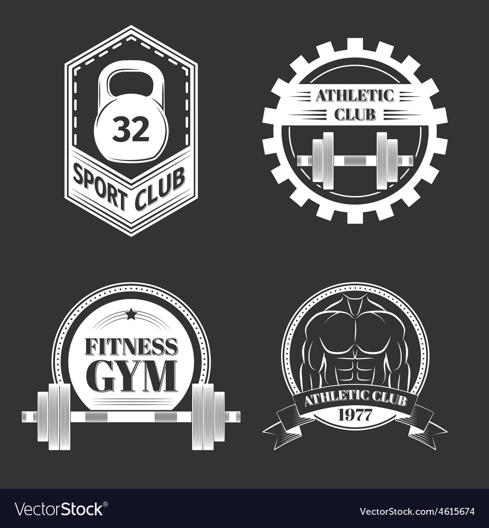 Set of logo for sport athletic club vector | Price: 1 Credit (USD $1)