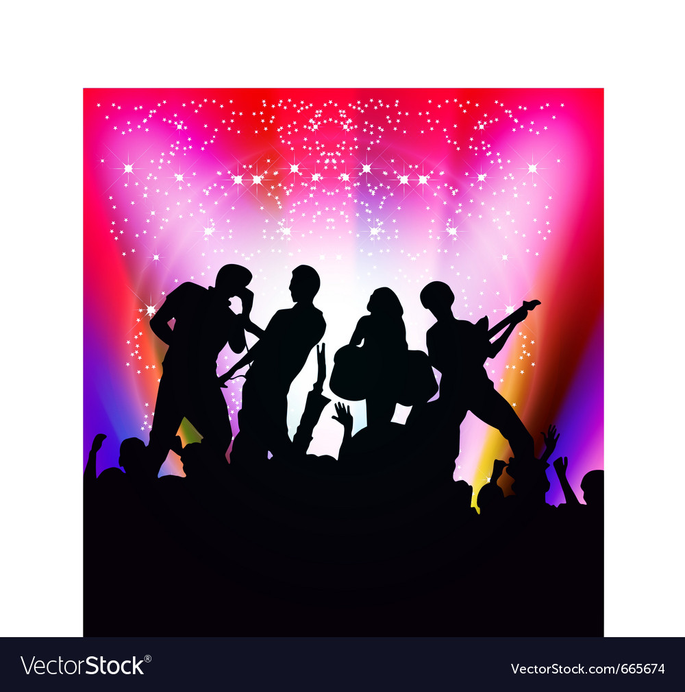 Singing and dancing vector | Price: 1 Credit (USD $1)