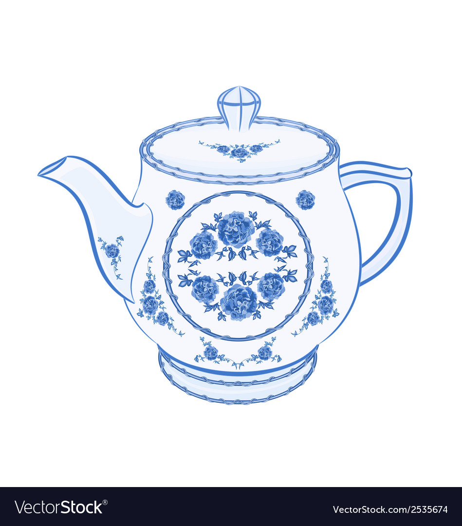 Teapot-faience vector | Price: 1 Credit (USD $1)