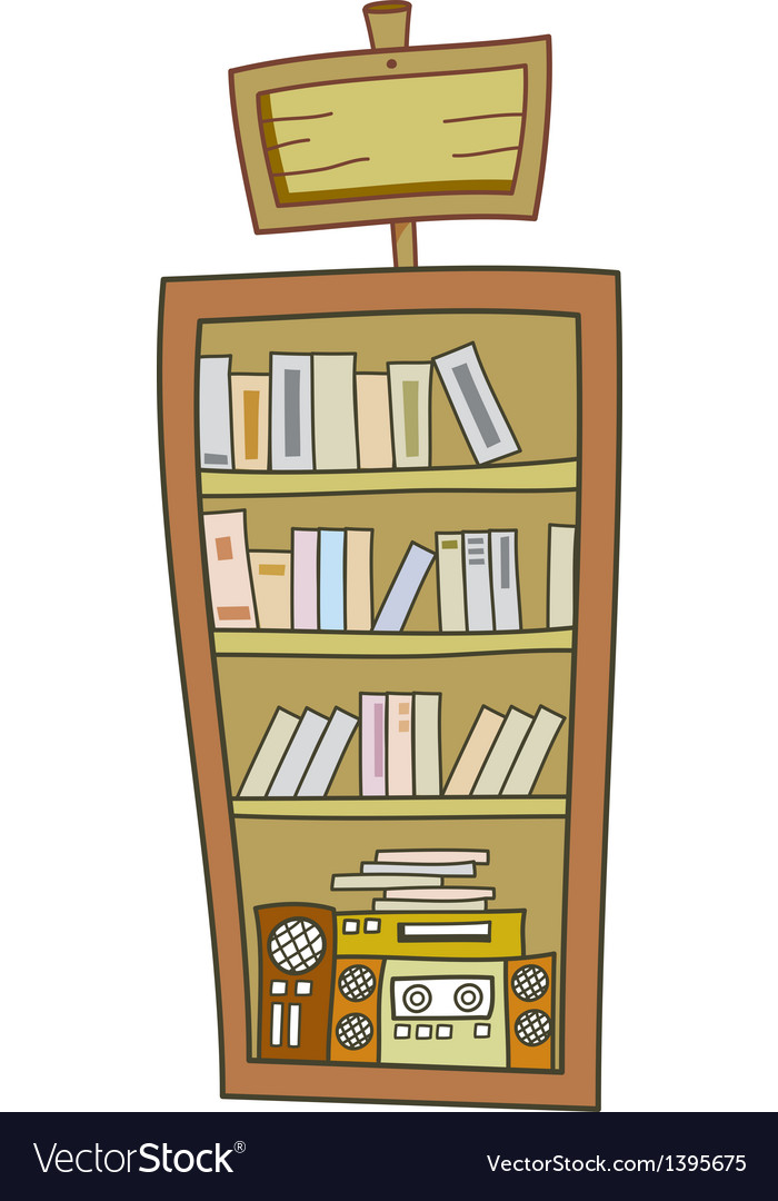 A bookshelf vector | Price: 1 Credit (USD $1)