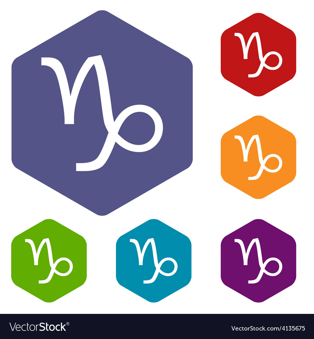 Capricorn rhombus icons vector | Price: 1 Credit (USD $1)