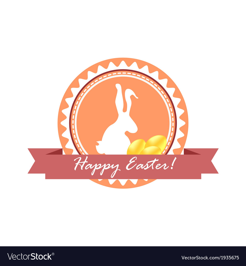 Happy easter logo vector | Price: 1 Credit (USD $1)