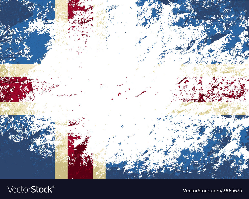 Icelandic flag grunge background vector | Price: 1 Credit (USD $1)