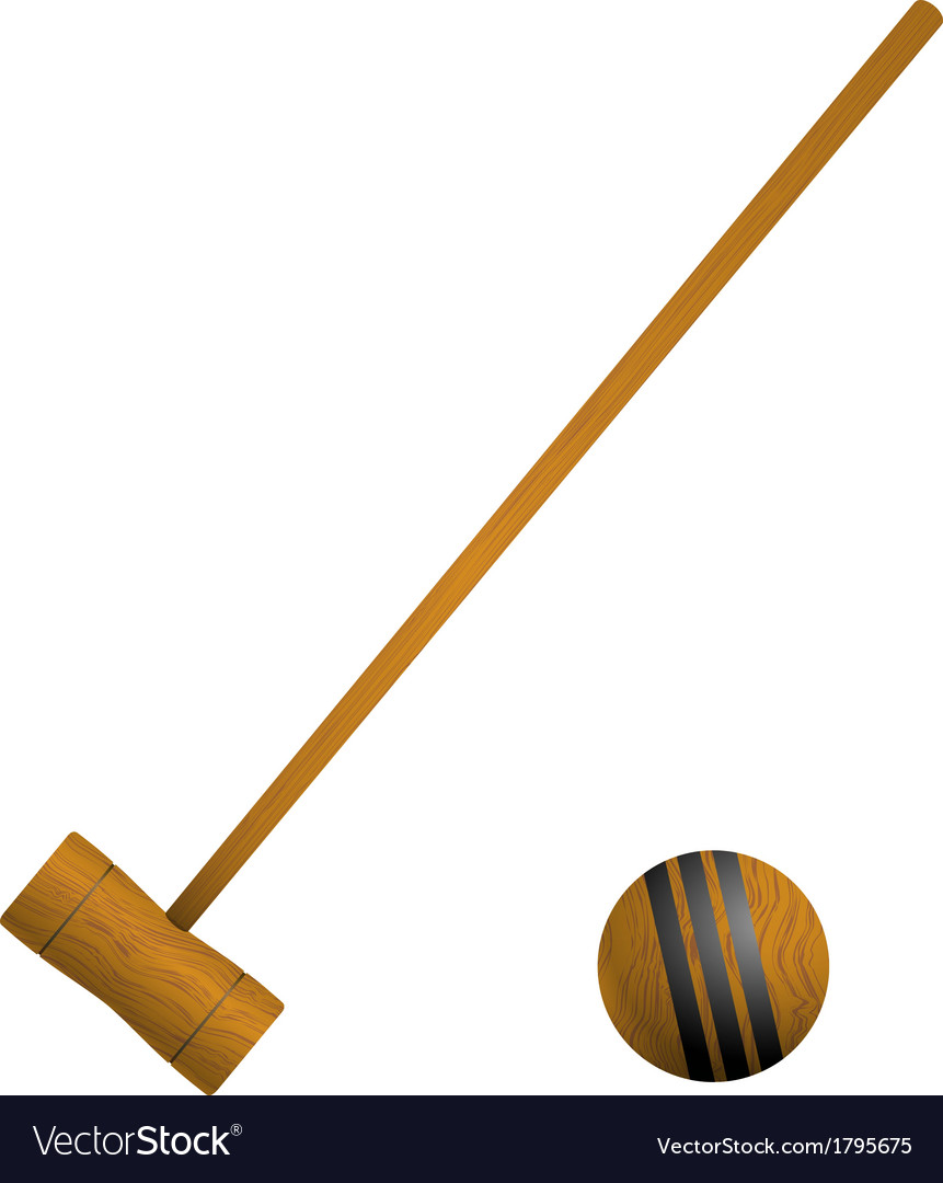 Mallet and ball croquet vector | Price: 1 Credit (USD $1)