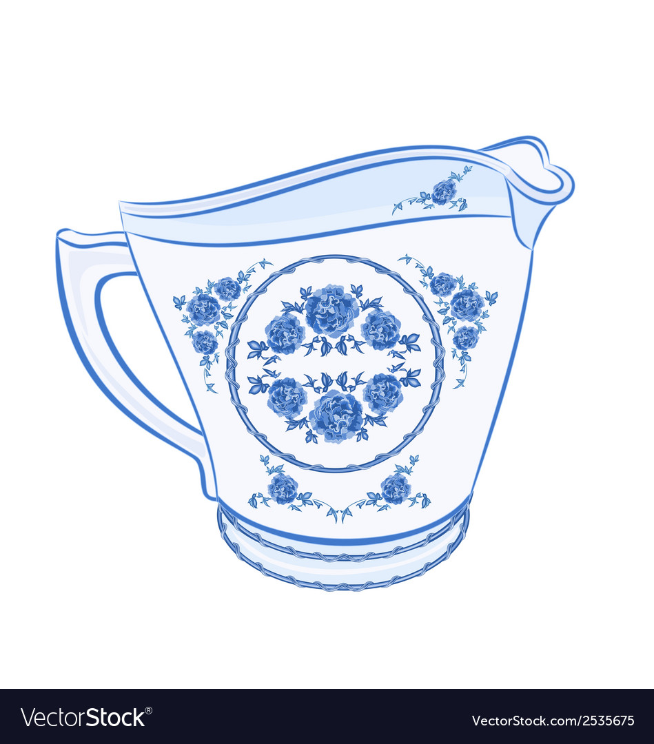 Milk-jug-faience vector | Price: 1 Credit (USD $1)