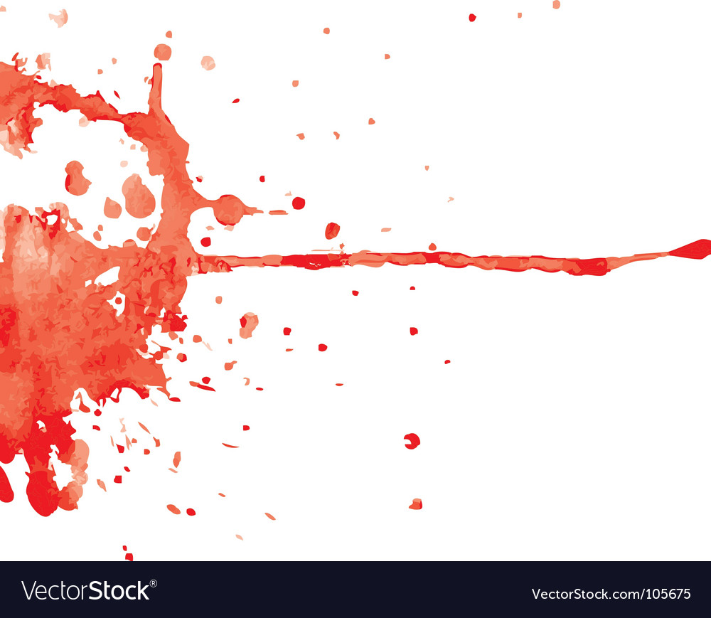 Red ink blot vector | Price: 1 Credit (USD $1)