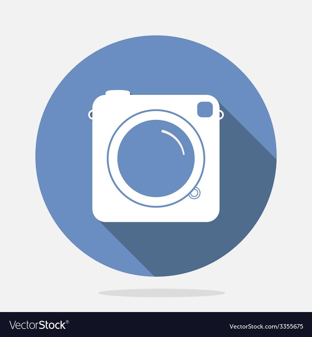 Retro camera blue icon vector | Price: 1 Credit (USD $1)