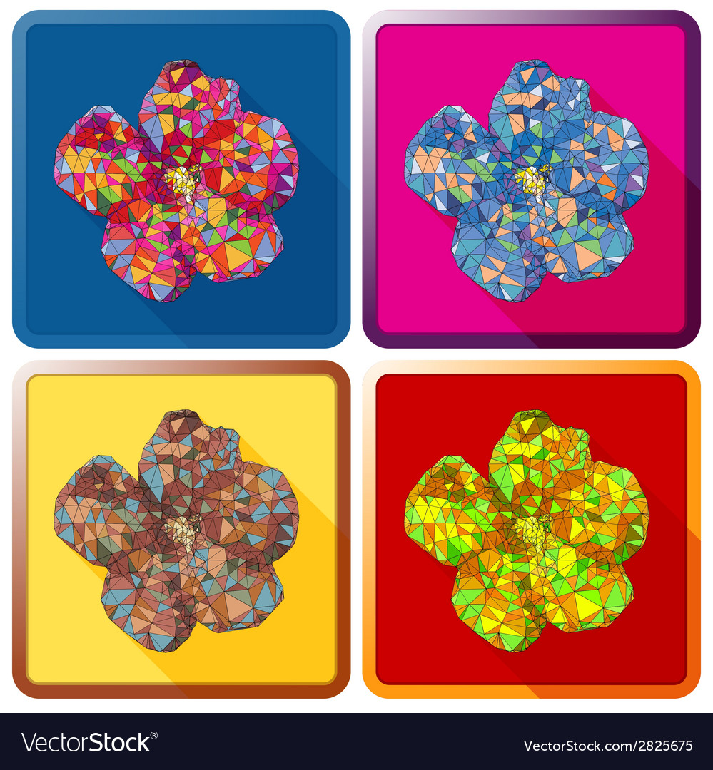 Rose of sharon flowerpolygonal vector | Price: 1 Credit (USD $1)