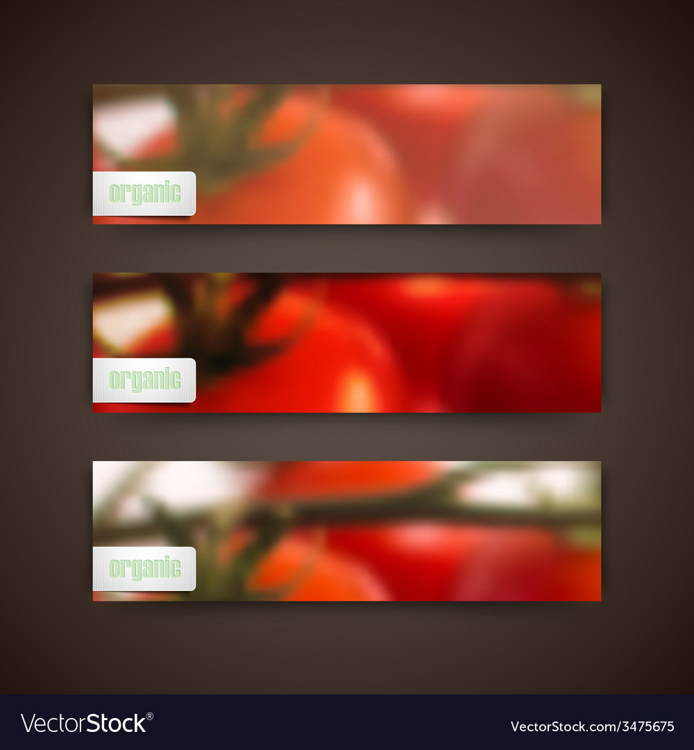 Set of banners with blurred background of bunch of vector | Price: 1 Credit (USD $1)