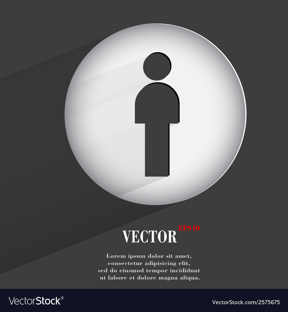 Silhouette of a man flat modern web button with vector | Price: 1 Credit (USD $1)