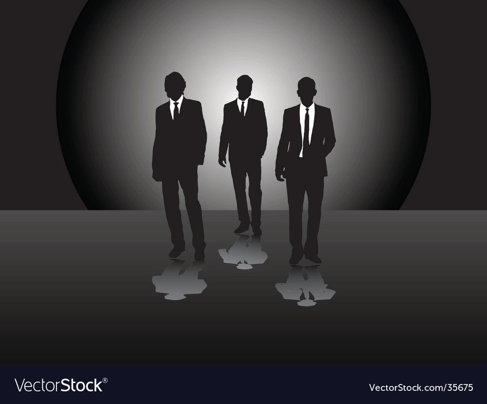 Three business men vector | Price: 1 Credit (USD $1)