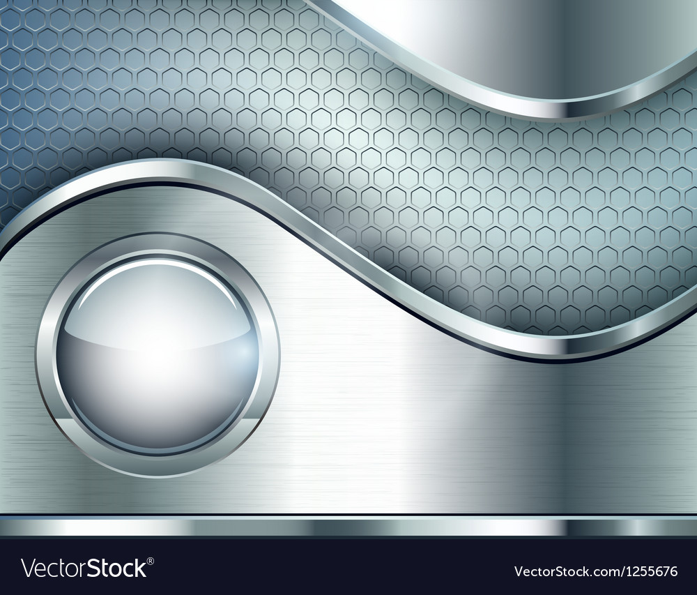 Abstract background with a metallic element vector | Price: 1 Credit (USD $1)