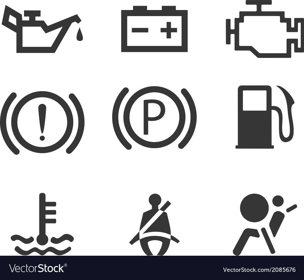 Car interface symbols vector | Price: 1 Credit (USD $1)
