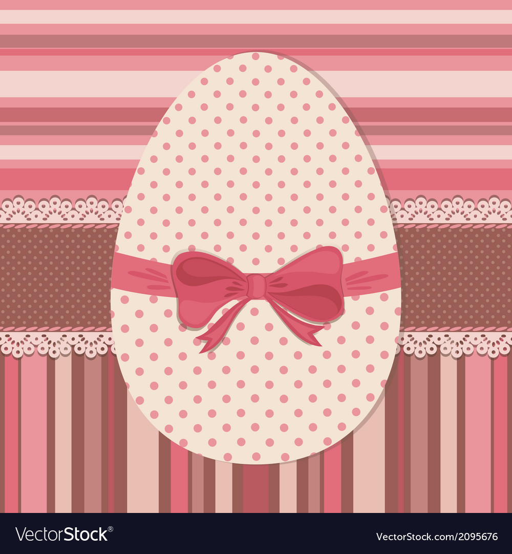 Easter greeting card with dotted egg vector | Price: 1 Credit (USD $1)