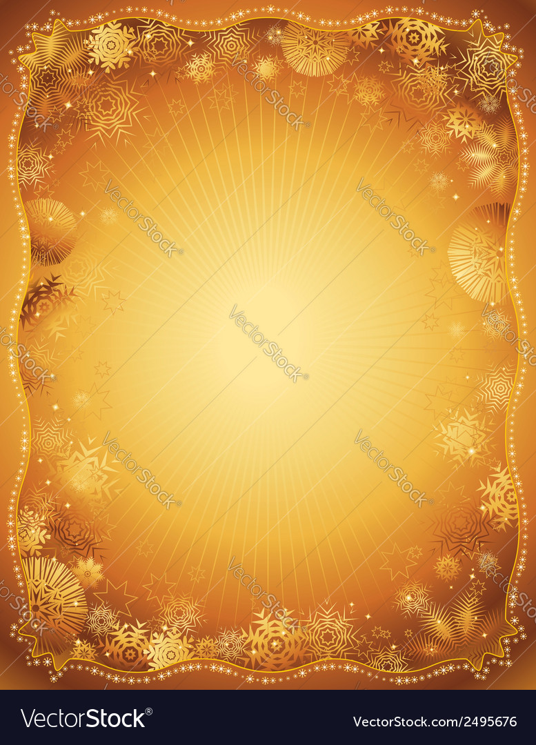 Gold christmas background vector | Price: 1 Credit (USD $1)