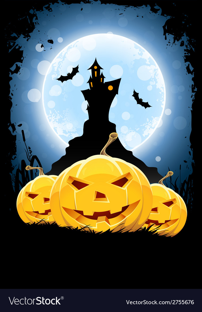 Grunge background for halloween party vector | Price: 1 Credit (USD $1)